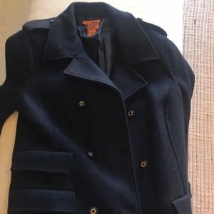 Tory Burch NWOT navy pea coat.